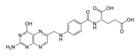 Chemical Structure of Folic Acid