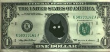 ChemBark Ed on Dollar Bill