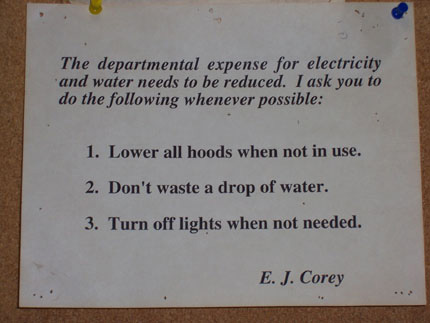 E.J. Corey Lab Sign