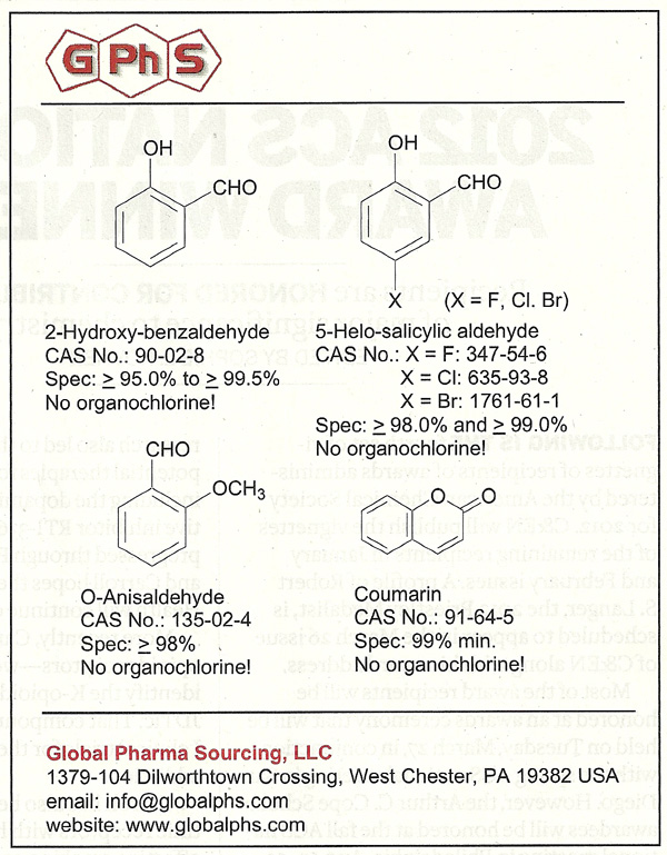 Ad for Global Pharma Sourcing LLC in Jan 31 2012 Chemical and Engineering News